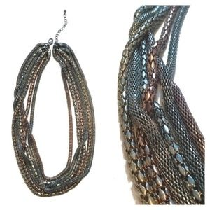 5 for $25: Mixed Metal Chain Statement Necklace